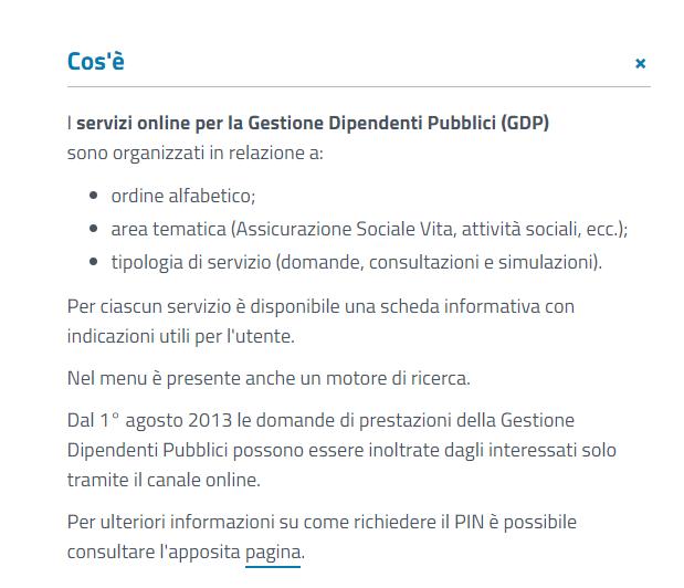 servizi Inps per la gestione dei dipendenti pubblici on line