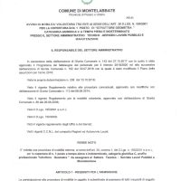 MOBILITA' VOLONTARIA TRA ENTI PER 1 GEOMETRA CAT. C - UFF. LAVORI PUBBLICI - COMUNE DI MONTELABBATE
